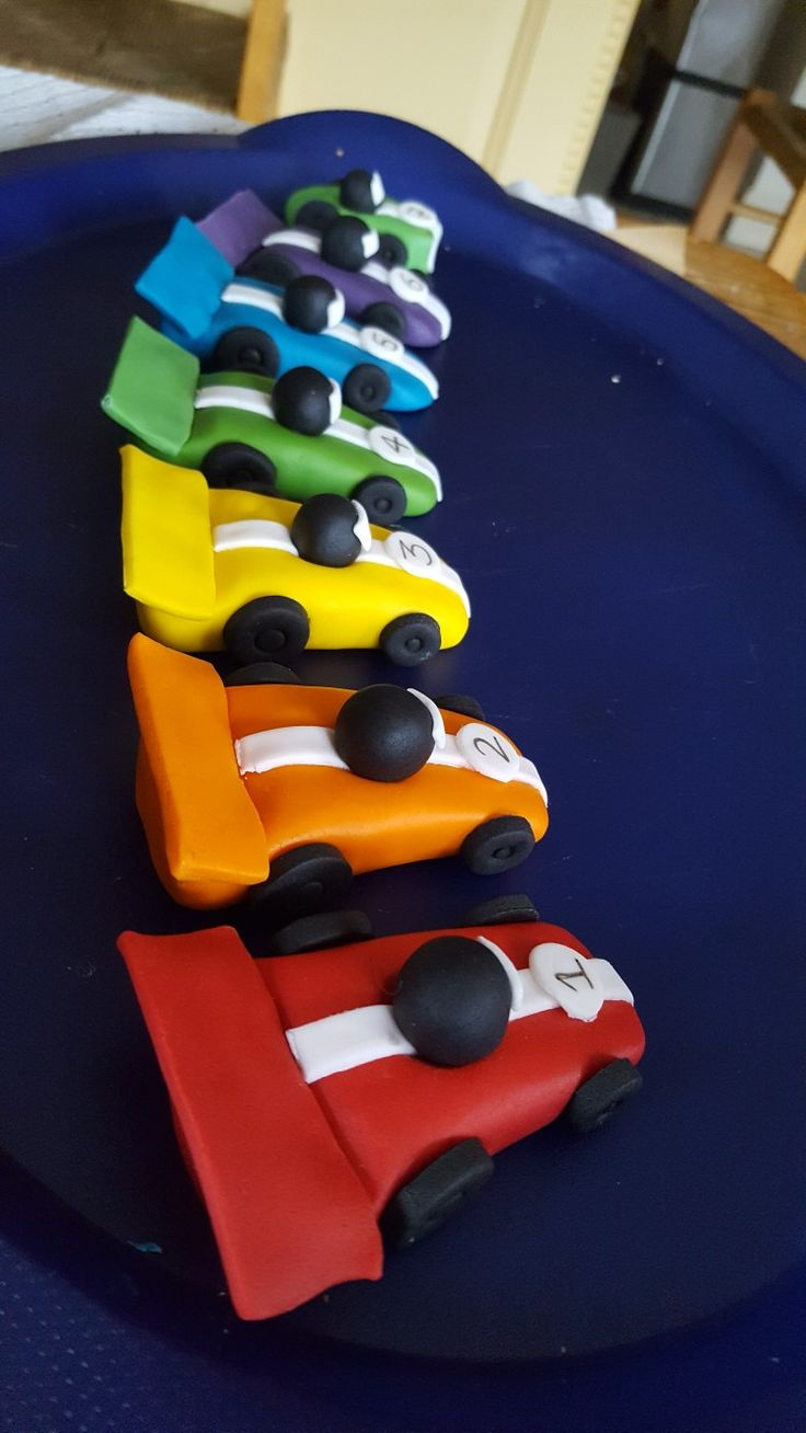Race car cake toppers go kart cake toppers