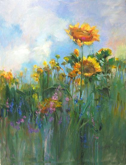 Sunflower Sky by Mary Maxam Acrylic ~ 48 x 36