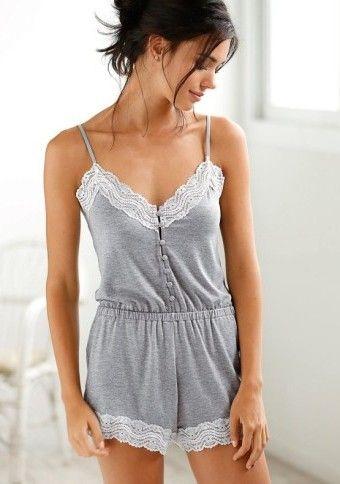 Pyžamový overal s čipkou #Modinosk #dayoff #pijamas