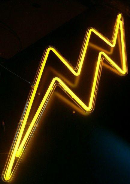neon, light, and yellow image