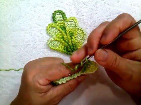Caminho de Mesa em Croche Encantos da Natureza - Aprendendo Crochê - YouTube