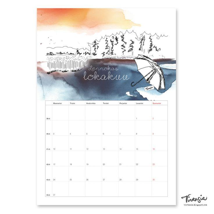Ilmainen tulostettava lokakuun 2016 seinäkalenteri #ilmainen#tulostettava #kalenteri #2016 #lokakuu #free #print#calendar #October