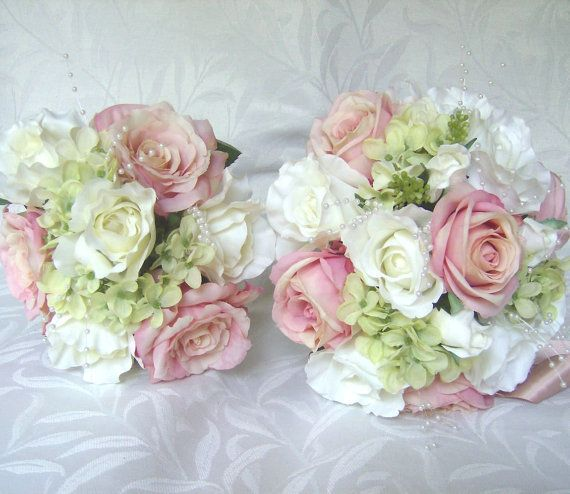Bridal Flowers Blush Pink : Best ideas about silk bridal bouquet on