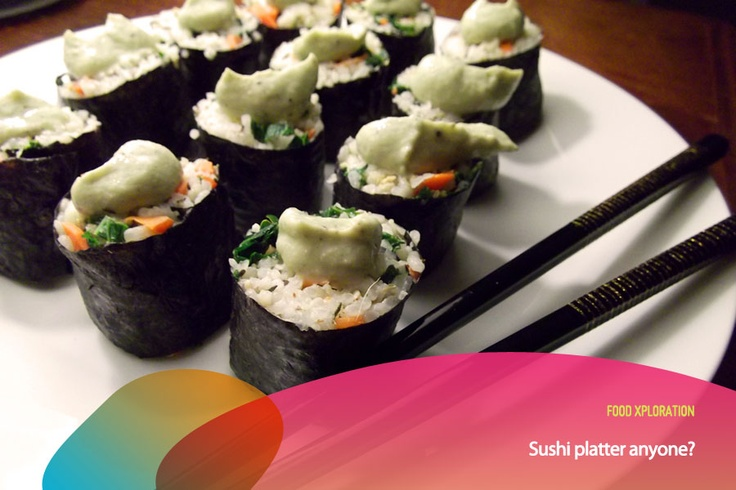 Did you know that sushi chefs believe that the customer eats not just with his mouth, but with his eyes. That is why sushi is prepared like creating a Zen garden.      *as posted on XL Rame