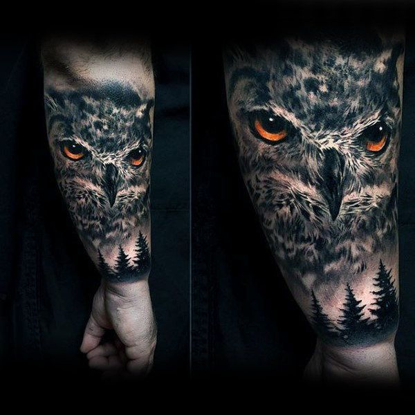 Stylish Modern Own Tattoo Half Sleeve On Man Tatuaje Buho Tatuajes Naturaleza Tatuajes De Animales
