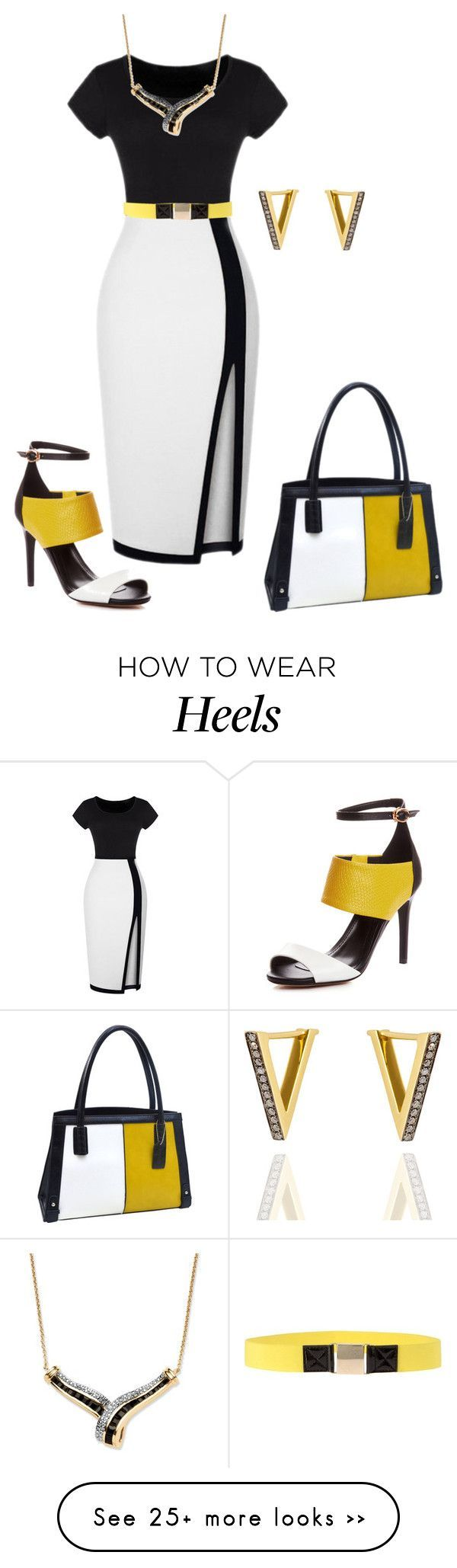 """Heel Matching"" by najoli on Polyvore featuring MSGM, Palm Beach Jewelry, Dasein, Noor Fares and HeelMatching"