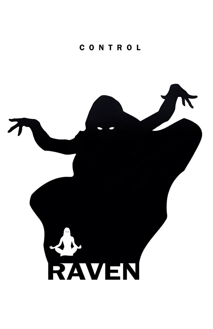 Superhero silhouettes and attributes by Steve Garcia: Raven.