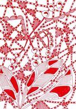 563 Zentangle Red