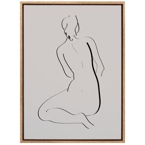A La Mode Studio Feminine Lines II Canvas Wall Art