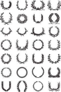 thanksgiving wreath monogram vector - Google Search