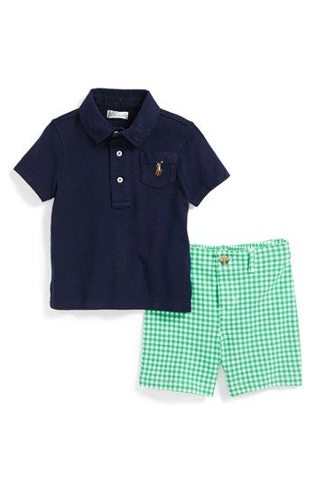 Ralph Lauren Polo & Gingham Shorts (Baby Boys) available at #Nordstrom