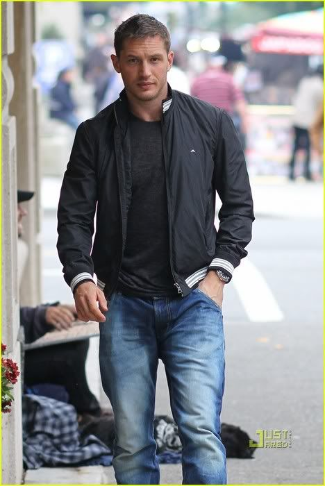 Tom Hardy he is so hott.. Even as Bain, the bad guy in The Dark Knight :) love him
