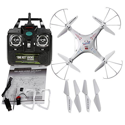 COOCHEER Q5C 2.0 MP HD Camera Drone 4CH 6-Axis Gyro RC Quadcopter White - http://www.midronepro.net/product/coocheer-q5c-2-0-mp-hd-camera-drone-4ch-6-axis-gyro-rc-quadcopter-white/
