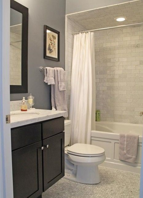 grey bathroom, I could honestly do this in our bathroom! - 2nd bath