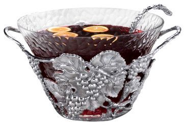 Grape Punch Bowl traditional-serveware