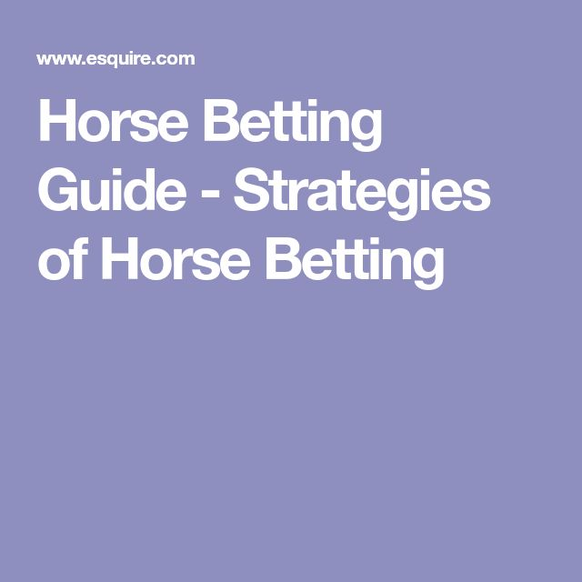Horse Betting Guide - Strategies of Horse Betting