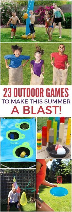Don't spend your summer indoors. Gather the kids and head outside with these 23 outdoor games to make summer a blast!