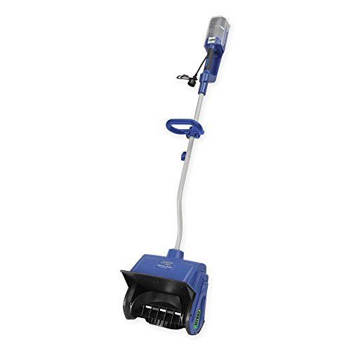 Snow Joe iON Cordless/Electric ION13SS-HYB Hybrid Snow Shovel with Push-button starter, 3 WATT LED Light snow Clearing in Blue