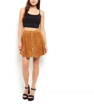 Suede Skater Skirt - Dress Ala
