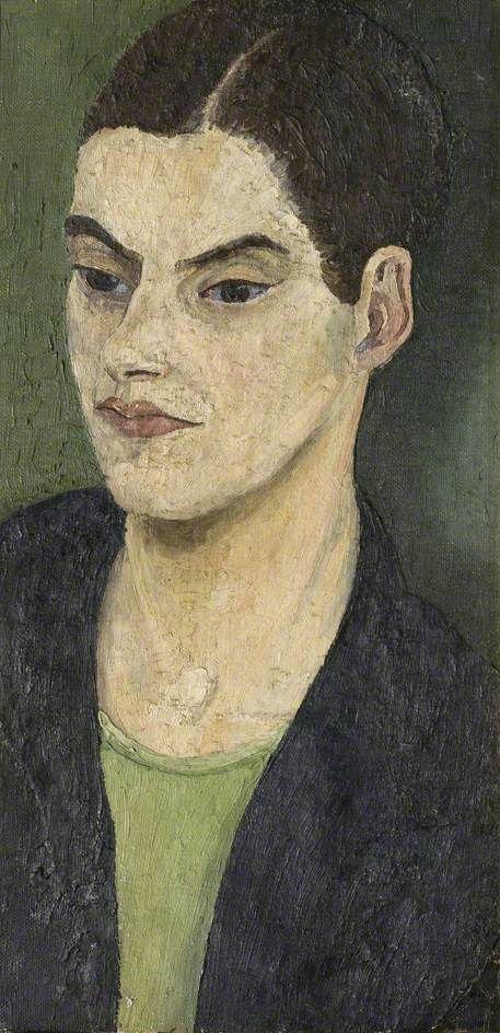 Cedric Lockwood Morris (1889–1982), Nancy Morris, 1929, Oil on canvas, 51x25 cm | Norfolk Museums Service