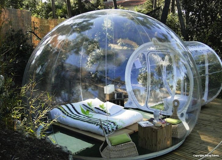 A hotel in France called Attrap'Rêves has collected a handful of Bubbletree's transparent tents to use as an entire hotel just 12km from Marseille!