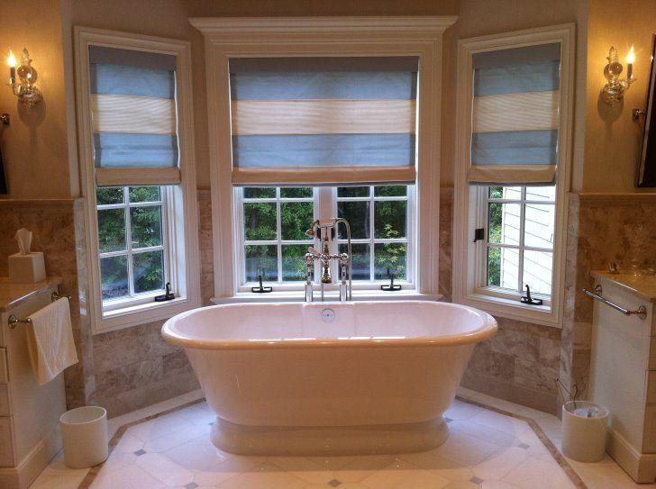 Chic bathroom window coverings idea
