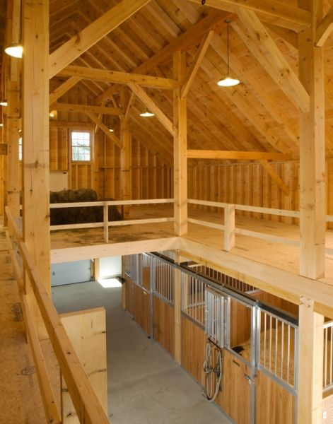 Custom Timber Frame Horse Barn | Houses and Barns by John Libby