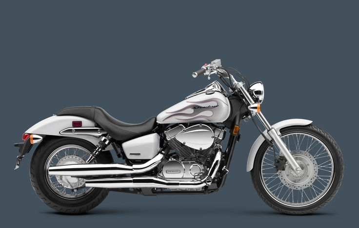 I almost got this bike. The white looked so good. 2009 Honda Shadow Spirit 750