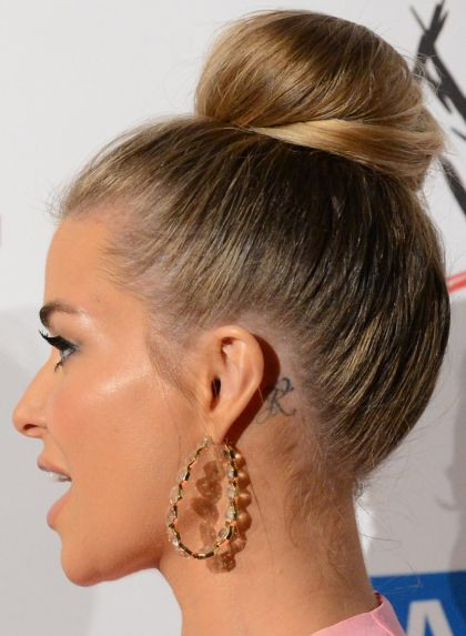 ear tattoos | ear tattoo idea carmen electra letter Ear & Behind The Ear Tattoo ...