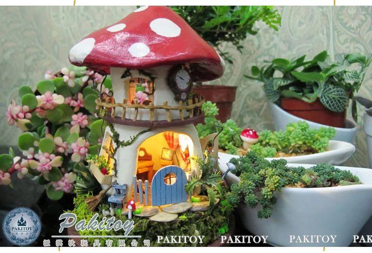 Специальное предложение бесплатная доставка для отправки партнеры Ци Дай ручной поделки избушка стеклянный купол модель дома в собранном рождения -tmall.com Lynx