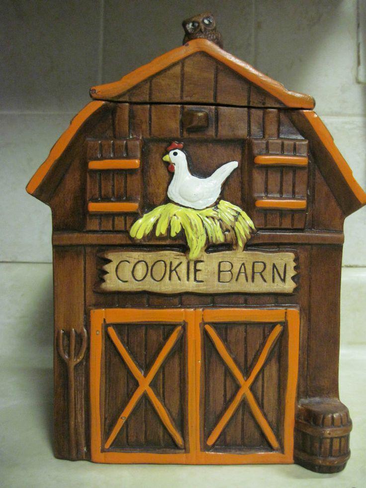 Vintage Treasure Craft Cookie Barn Cookie Jar Owl