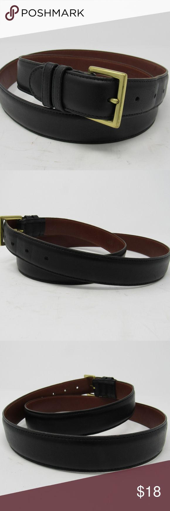 """🇺🇸 Coach belt mens size 42 Made in the USA Their item number 7600. Black handcrafted Coach belt made of full grain cowhide leather and gold tone buckle. It's in good shape with minimal scuffing and some creasing at the 3rd and 4th holes. The buckle has signs of wear only with a close inspection and primarily on the back side. Size 42, measuring 47 1/4"""" including its 1 1/4"""" buckle and is 1 1/4"""" wide. Please use the pictures to give it a once over.  INV-H13-180108 Coach Accessories Belts"""