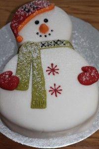 sneeuwman taart