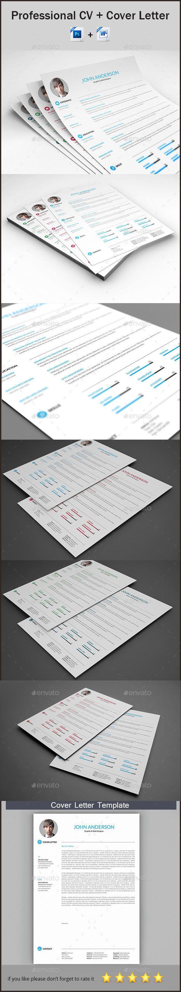 CV Template PSD, MS Word
