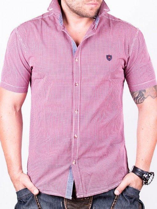 Camasa barbati RedFactor cu maneca scurta rosie