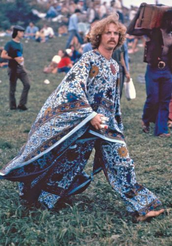 While female fashion at Woodstock has long been replicated, it appears the male choice of the attire didn't have the same effect...