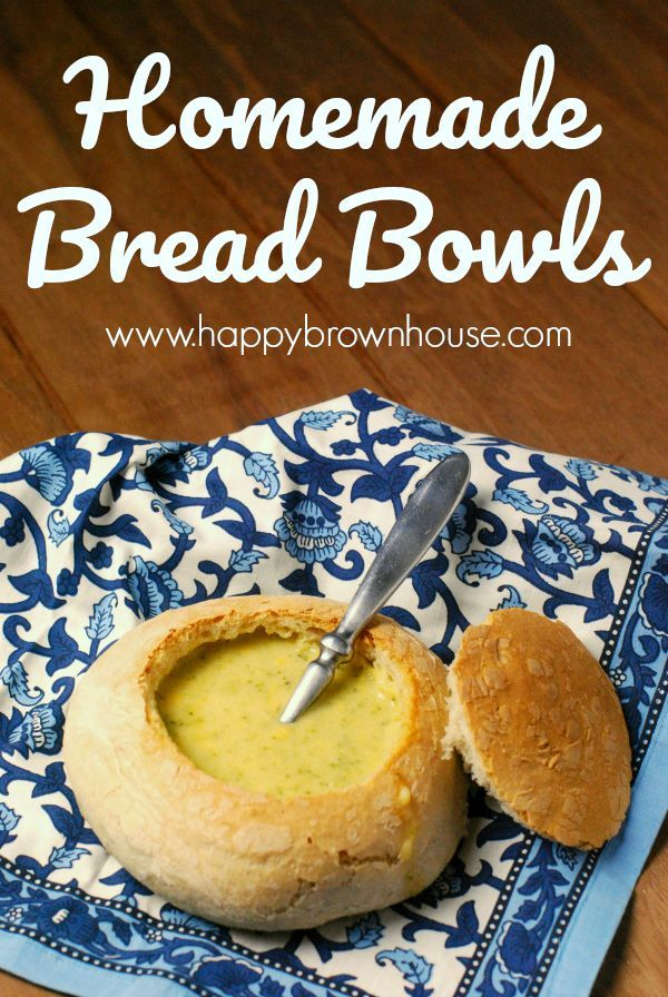 Eat your soup in style with these homemade bread bowls. While they do take some time to make, these bread bowls are easy to make. These are perfect for creamy soups.