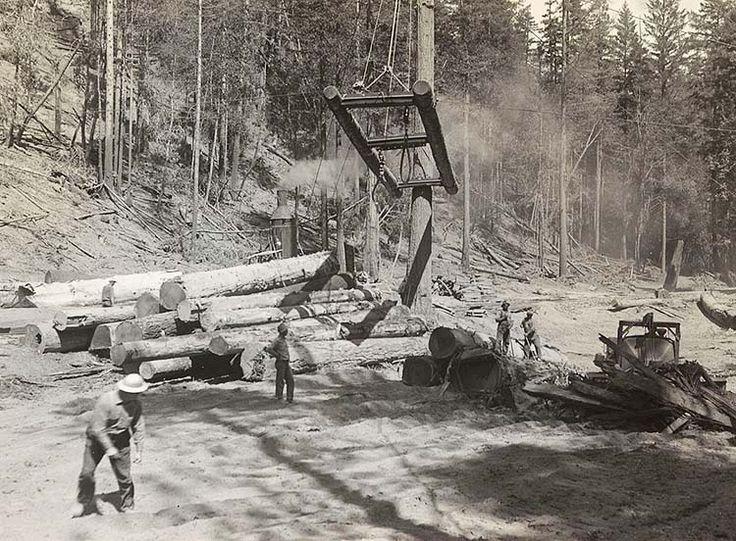 Caspar Lumber Company - history of a Mendocino redwood logging & railroad company