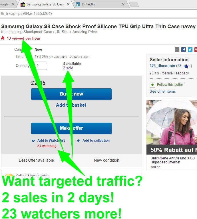 2 Sales in 2 days! have you ebay, amazon or etsy store? http://www.smartseoservice.com/convert-web-traffic-into-sales-or-leads/