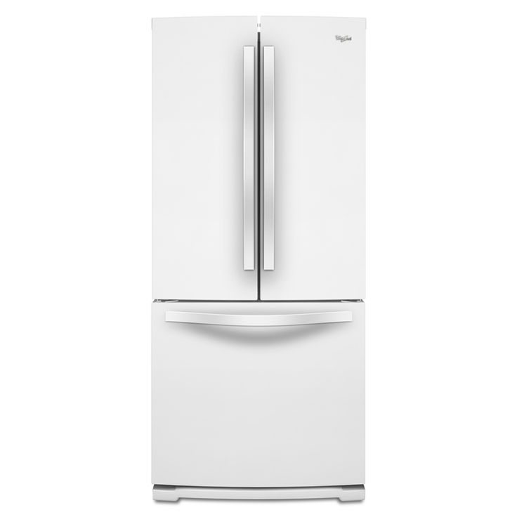 $998 - Whirlpool 19.7-cu ft French Door Refrigerator with Single Ice Maker (White)