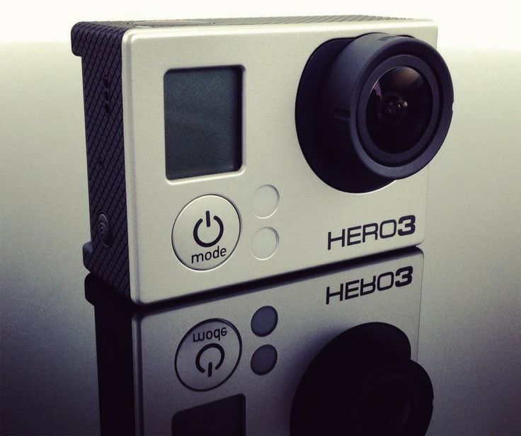 My indestructible video camera I do a lot of videos for my website. If I weren't a race car driver, I'd be a film editor. I just got my hands on a GoPro Hero3, which is an awesome HD camera that's built for filming extreme sports. I never leave home without it.