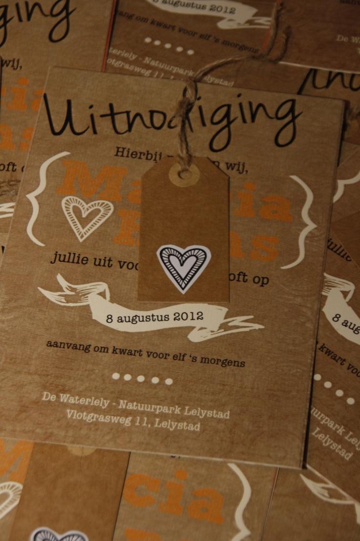 DIY trouwkaart voor onze bruiloft