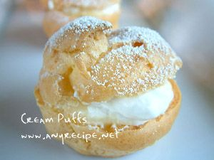How to make Cream Puffs with Video Instructions, Cream Puffs with Custard Cream Filling recipe