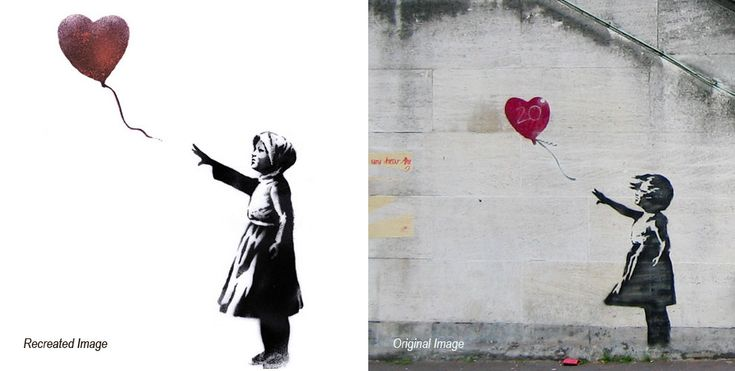 Banksy reworks his famous girl with heart balloon to mark third anniversary of Syria conflict - Lost At E Minor: For creative people