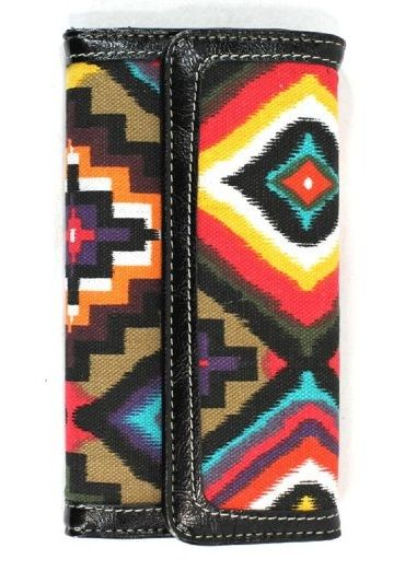Wallet Black Aztec Tribal Print