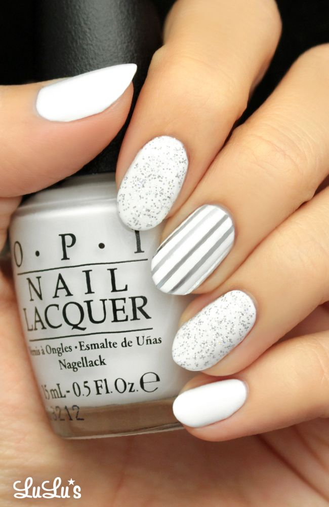Mani Monday: Silver and White Glitter Nail Tutorial - Best 25+ White Nail Art Ideas On Pinterest Prom Nails, Prom