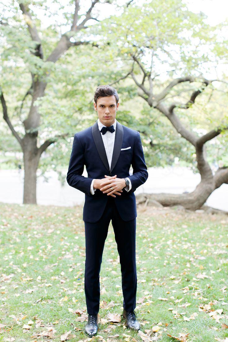 Black dress navy suit mens