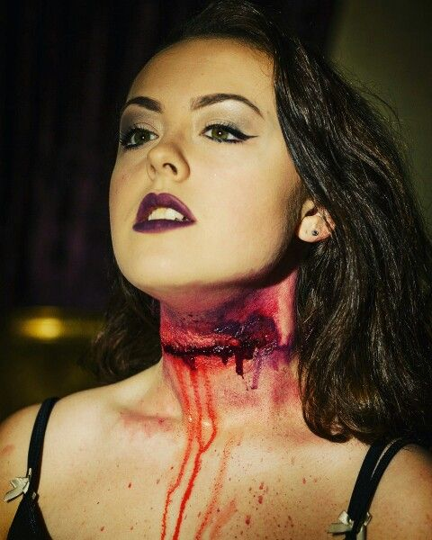 Slit throat I did in prep for Halloween!