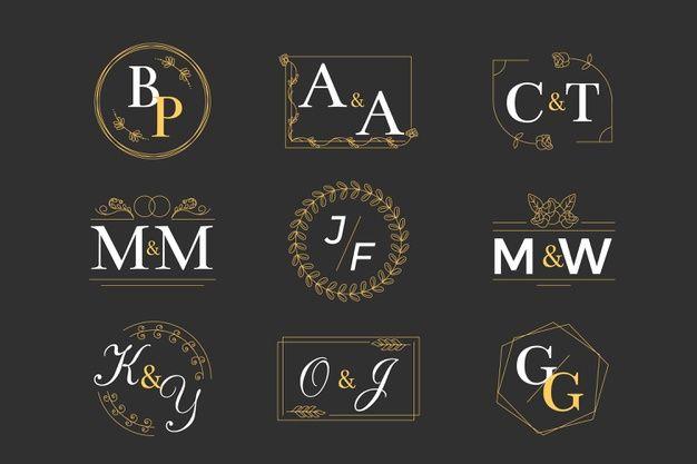 Download Wedding Monogram Collection Concept For Free Monogram Logo Monogram Wedding Vector Logo