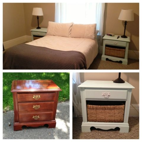 We just refinished a set of bedside tables - check it out! #DIY